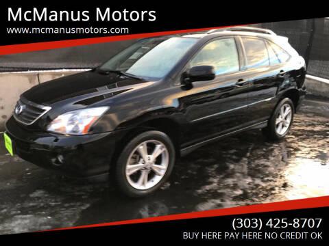 2007 Lexus RX 400h for sale at McManus Motors in Wheat Ridge CO