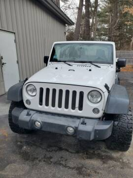 2014 Jeep Wrangler for sale at Stellar Motor Group in Hudson NH