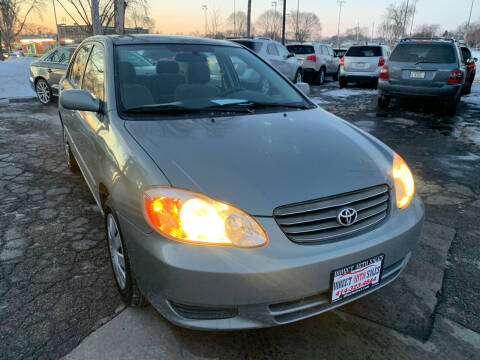 2003 Toyota Corolla for sale at Direct Auto Sales in Milwaukee WI