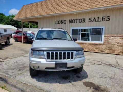 2004 Jeep Grand Cherokee for sale at Long Motor Sales in Tecumseh MI