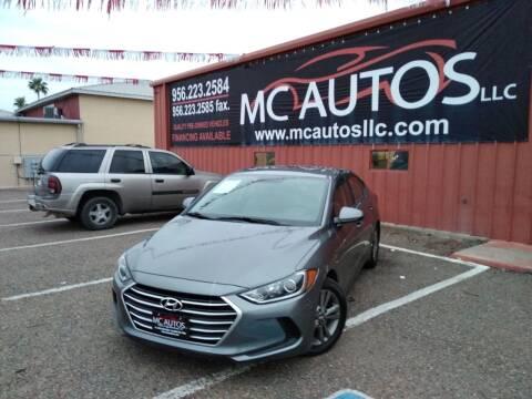 2018 Hyundai Elantra for sale at MC Autos LLC in Pharr TX