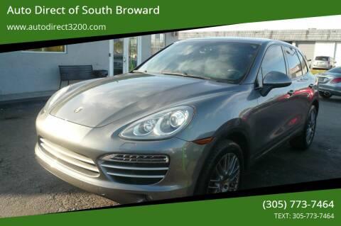 2014 Porsche Cayenne for sale at Auto Direct of South Broward in Miramar FL