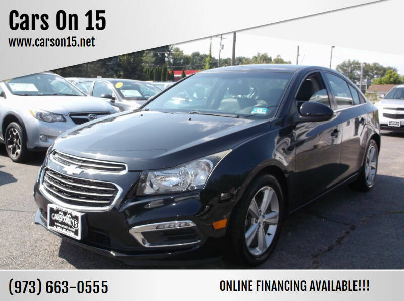 2015 Chevrolet Cruze for sale at Cars On 15 in Lake Hopatcong NJ