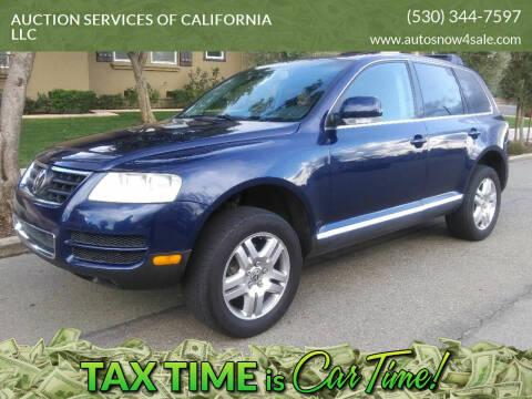 2004 Volkswagen Touareg for sale at AUCTION SERVICES OF CALIFORNIA in El Dorado CA
