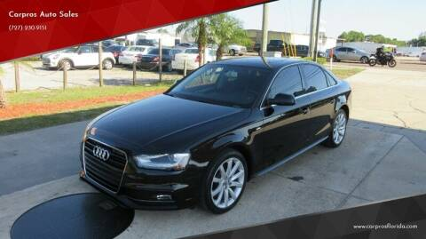 2014 Audi A4 for sale at Carpros Auto Sales in Largo FL
