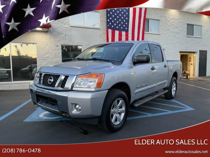 2013 Nissan Titan for sale at ELDER AUTO SALES LLC in Coeur D'Alene ID