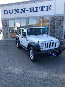 2013 Jeep Wrangler Unlimited for sale at Dunn-Rite Auto Group in Kilmarnock VA