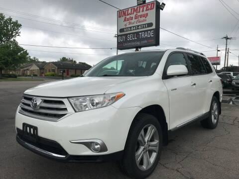 2013 Toyota Highlander for sale at Unlimited Auto Group in West Chester OH