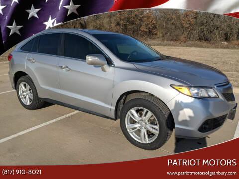 2015 Acura RDX for sale at Patriot Motors in Granbury TX