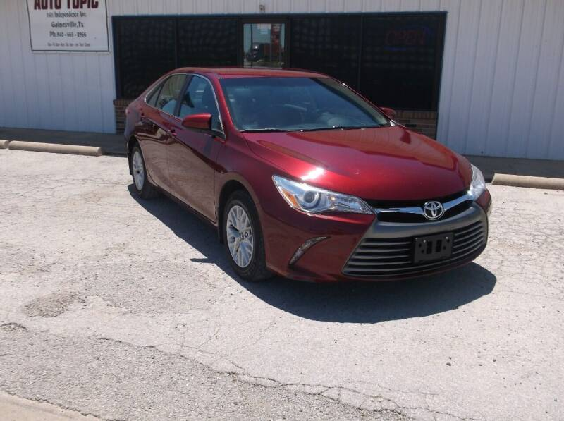 2017 Toyota Camry for sale at AUTO TOPIC in Gainesville TX