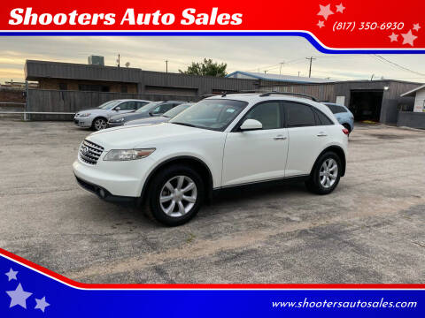 2004 Infiniti FX35 for sale at Shooters Auto Sales in Fort Worth TX