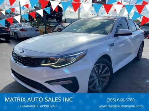 2019 Kia Optima for sale at MATRIX AUTO SALES INC in Miami FL