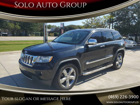 2011 Jeep Grand Cherokee for sale at Solo Auto Group in Mckinney TX