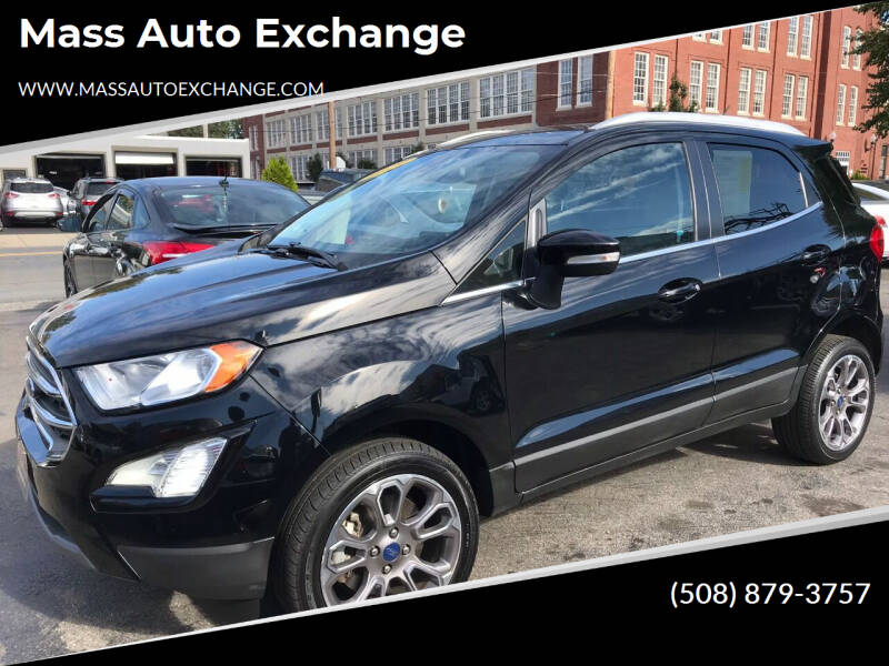 2019 Ford EcoSport for sale at Mass Auto Exchange in Framingham MA