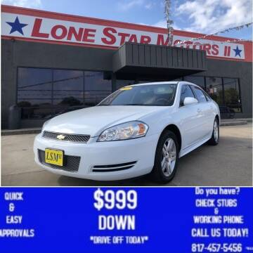 2016 Chevrolet Impala Limited for sale at LONE STAR MOTORS II in Fort Worth TX