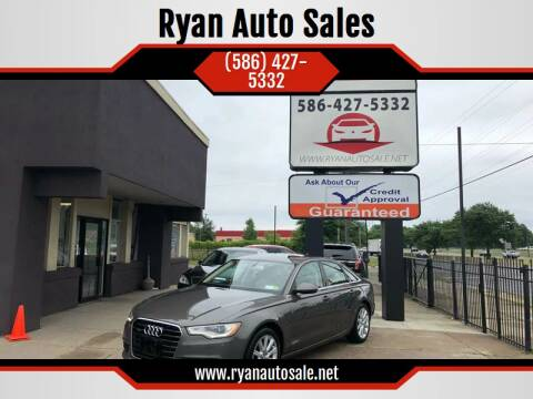 2013 Audi A6 for sale at Ryan Auto Sales in Warren MI
