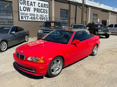 2001 BMW 3 Series for sale at BARCLAY MOTOR COMPANY in Arlington TX