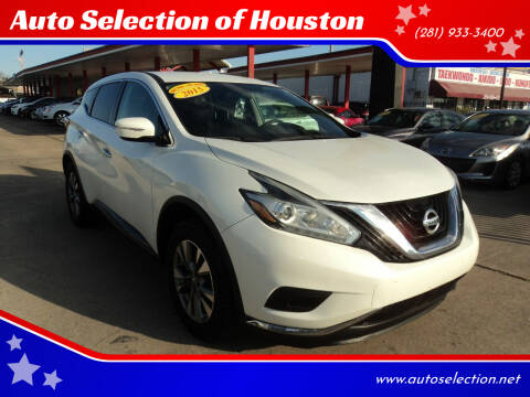 2015 Nissan Murano for sale at Auto Selection of Houston in Houston TX