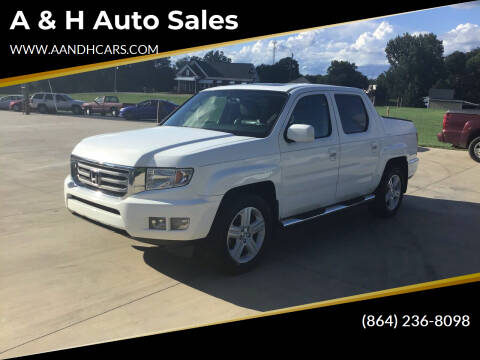 2013 Honda Ridgeline for sale at A & H Auto Sales in Greenville SC