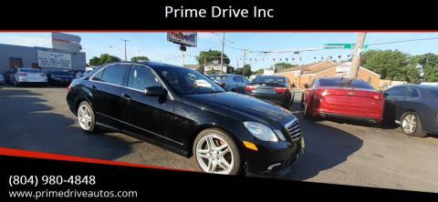 2011 Mercedes-Benz E-Class for sale at Prime Drive Inc in Richmond VA
