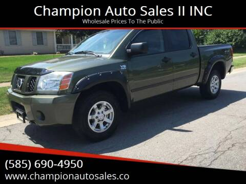 2004 Nissan Titan for sale at Champion Auto Sales II INC in Rochester NY