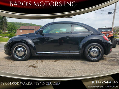 2012 Volkswagen Beetle for sale at BABO'S MOTORS INC in Johnstown PA