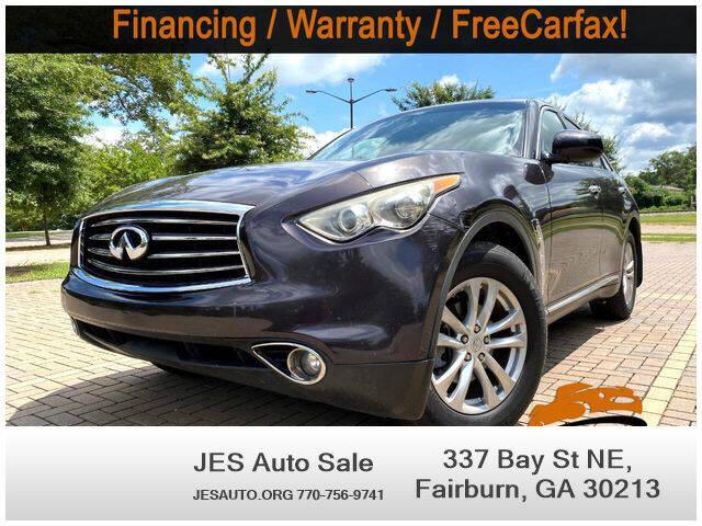 2013 Infiniti FX37 for sale at JES Auto Sales LLC in Fairburn GA