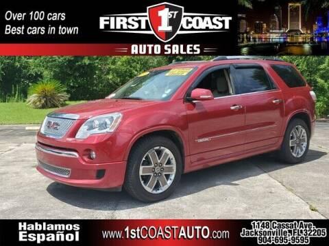 2012 GMC Acadia for sale at 1st Coast Auto -Cassat Avenue in Jacksonville FL