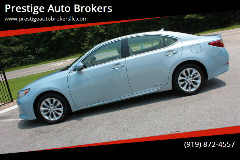 2014 Lexus ES 300h for sale at Prestige Auto Brokers in Raleigh NC