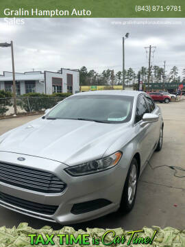 2014 Ford Fusion for sale at Gralin Hampton Auto Sales in Summerville SC