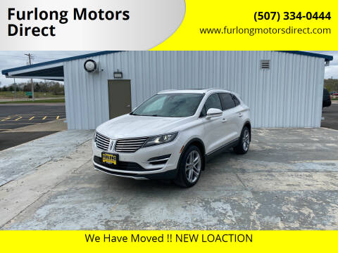 2016 Lincoln MKC for sale at Furlong Motors Direct in Faribault MN