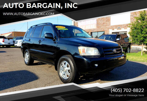 2006 Toyota Highlander for sale at AUTO BARGAIN, INC. #2 in Oklahoma City OK