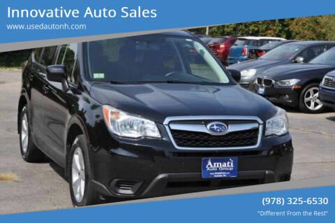 2014 Subaru Forester for sale at Innovative Auto Sales in North Hampton NH