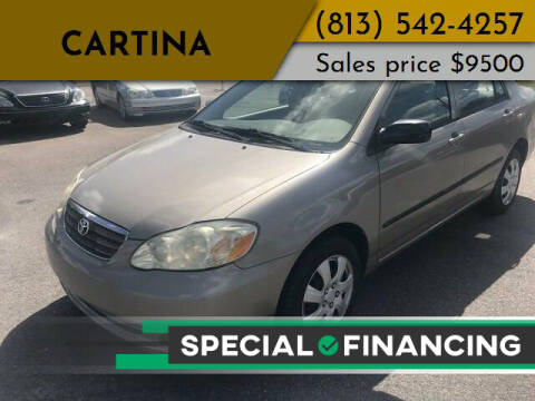 2007 Toyota Corolla for sale at Cartina in Tampa FL