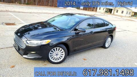 2014 Ford Fusion Hybrid for sale at Wheeler Dealer Inc. in Acton MA