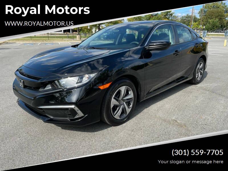 2021 Honda Civic for sale at Royal Motors in Hyattsville MD