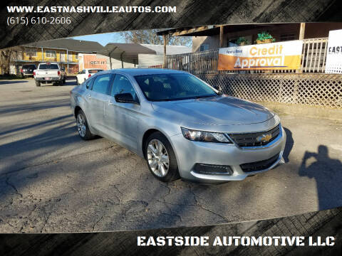 2015 Chevrolet Impala for sale at EASTSIDE AUTOMOTIVE LLC in Nashville TN