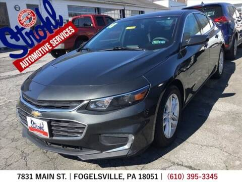 2018 Chevrolet Malibu for sale at Strohl Automotive Services in Fogelsville PA