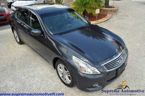 2012 Infiniti G37 Sedan for sale at Supreme Automotive in Land O Lakes FL