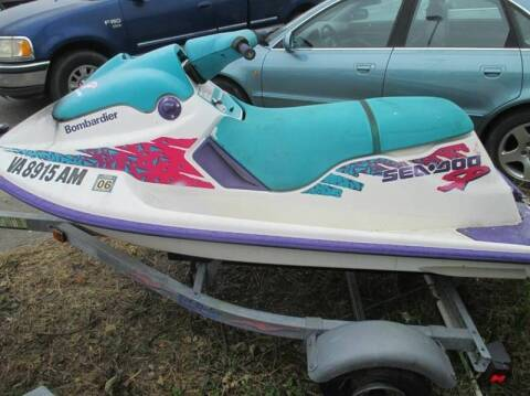 1995 Sea-Doo Bombardier for sale at FPAA in Fredericksburg VA