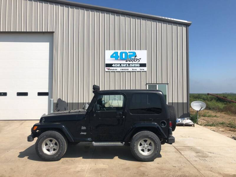 2004 Jeep Wrangler for sale at 402 Autos in Lindsay NE