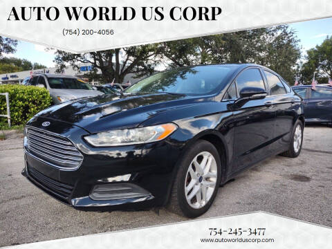 2014 Ford Fusion for sale at Auto World US Corp in Plantation FL