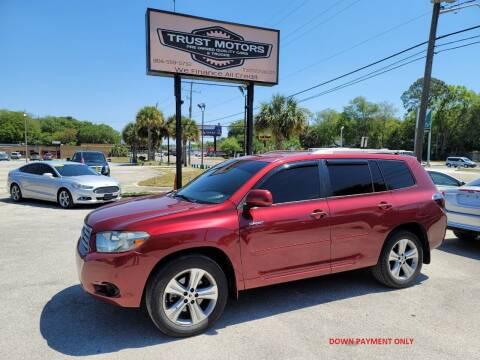 2008 Toyota Highlander for sale at Trust Motors in Jacksonville FL