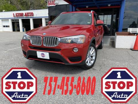 2016 BMW X3 for sale at 1 Stop Auto in Norfolk VA