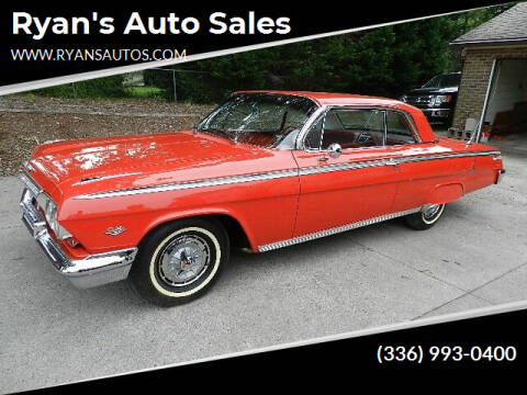 1962 Chevrolet Impala  Super Sport for sale at Ryan's Auto Sales in Kernersville NC