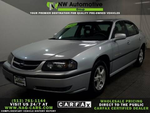 2003 Chevrolet Impala for sale at NW Automotive Group in Cincinnati OH