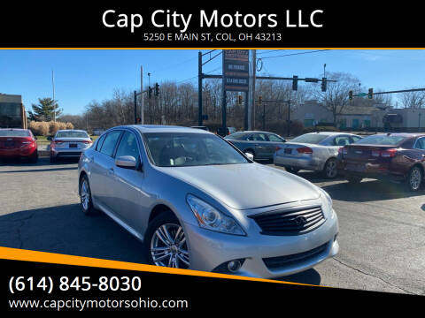 2013 Infiniti G37 Sedan for sale at Cap City Motors LLC in Columbus OH