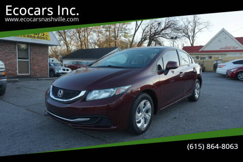2013 Honda Civic for sale at Ecocars Inc. in Nashville TN