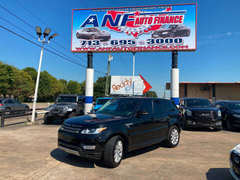 2015 Land Rover Range Rover Sport for sale at ANF AUTO FINANCE in Houston TX