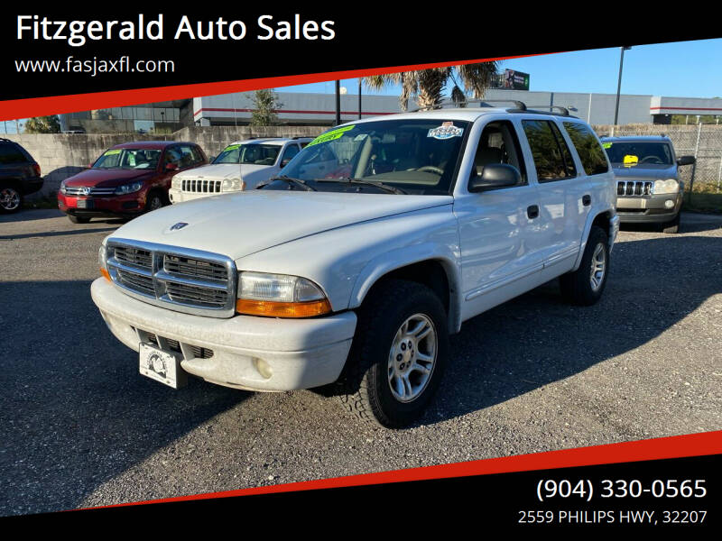 2002 Dodge Durango for sale at Fitzgerald Auto Sales in Jacksonville FL